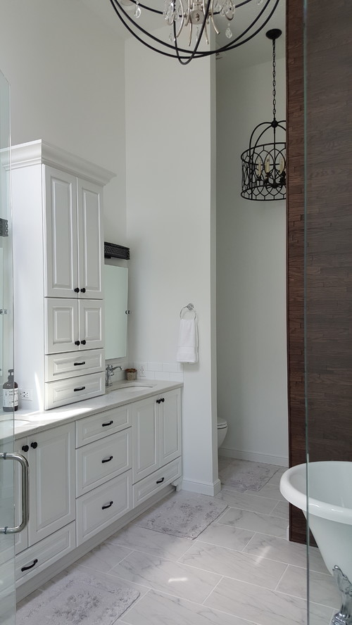 Glamorous All White Bathroom Park Place Interiors