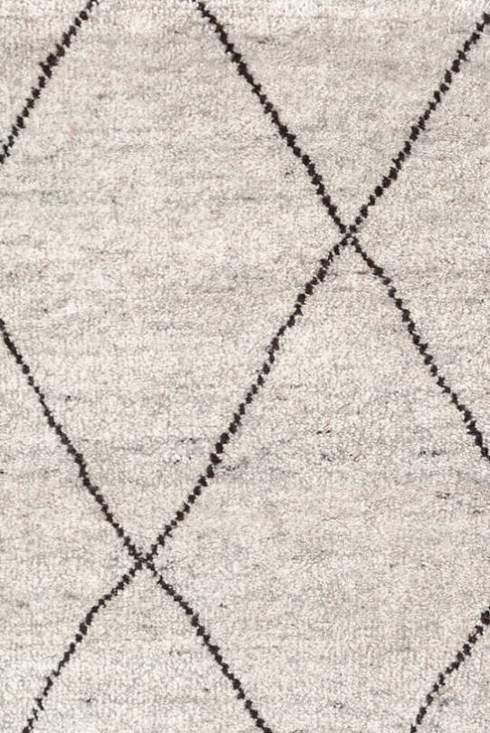Geometric Design Hand Knotted Rug